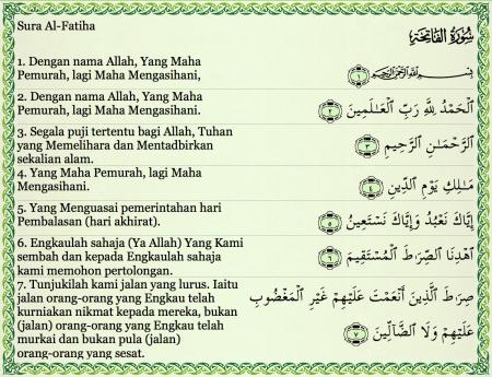 surat alfatihah arab indonesia